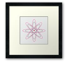 Atoms for love. Framed Print