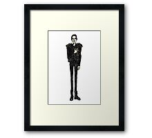 Brandon Flowers Human Framed Print