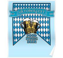 OKTOBERFEST with Foamy Beer Mugs Poster