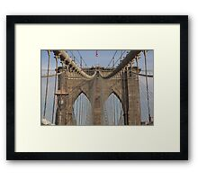 Brooklin bridge Framed Print