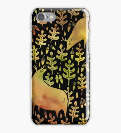 Elks in the autumn forest pattern iPhone Case/Skin