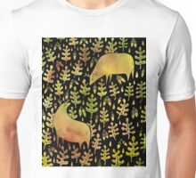 Elks in the autumn forest pattern Unisex T-Shirt