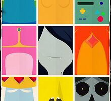 Minimal Adventure Time Portraits by Stephen-Sharpe