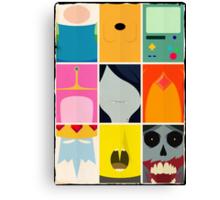 Minimal Adventure Time Portraits Canvas Print