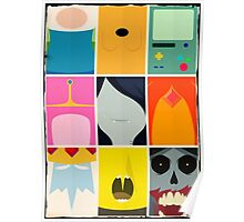 Minimal Adventure Time Portraits Poster