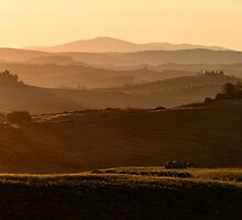 After the dawn, Val D'Orcia, Siena, Tuscany, Italy by Andrew Jones