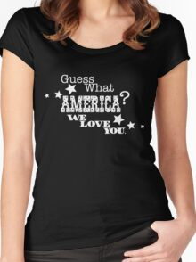 Guess what America? Women's Fitted Scoop T-Shirt