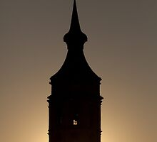 Bell tower in Zaragoza by PhotoBilbo