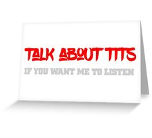 Cool funny sexy tits text design Greeting Card