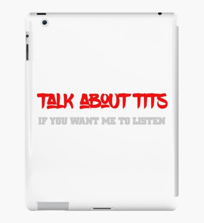 Cool funny sexy tits text design iPad Case/Skin