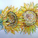 AUGUST SUNFLOWERS TWO by Gea Austen