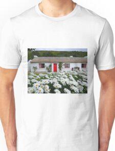 Irish Cottage With Daisies Unisex T-Shirt
