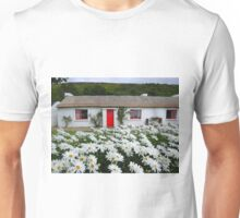 Irish Cottage With Daisies Unisex T-Shirt