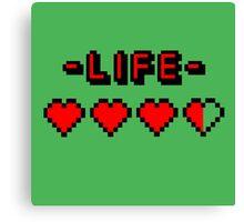 8-bit gamer lifebar Canvas Print