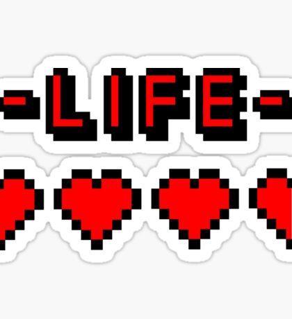 8-bit gamer lifebar Sticker