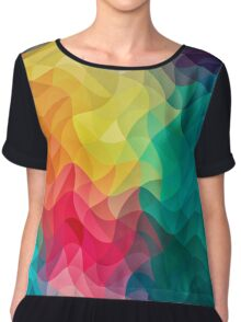 Abstract Color Wave Flash Chiffon Top