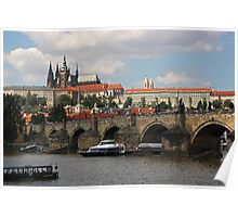 Prague Caste and Charles Bridge Poster