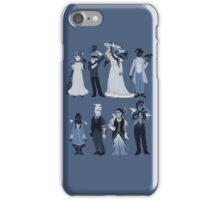 Blue, flowers, and birds iPhone Case/Skin