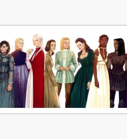 Women from Throne of Glass Sticker