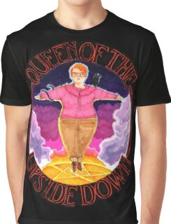 Barb Queen of The Upside Down Stranger Things Black Outline Graphic T-Shirt