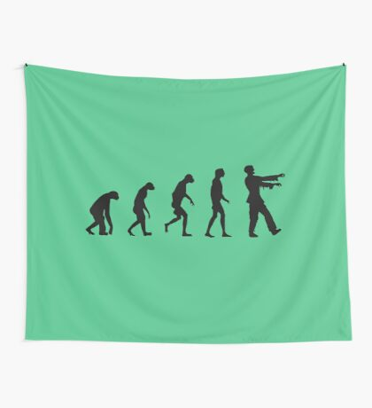 Evolution of Zombies (Zombie Walking Dead) Wall Tapestry