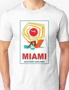 """EASTERN AIRLINES"" Vintage Fly to Miami Print Unisex T-Shirt"