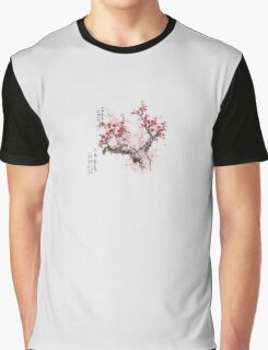 Japanese Cherry Blossoms Graphic T-Shirt