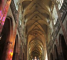 Prague St. Vitus Cathedral Interior by Elena Skvortsova