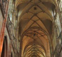Prague St. Vitus Cathedral Interior Sticker