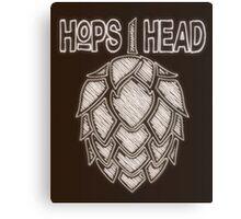 Hops Head - Chalkboard Style Print Canvas Print