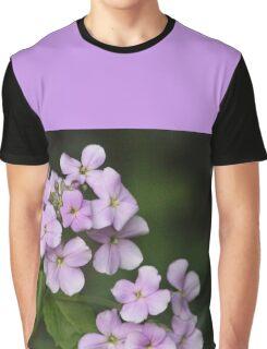 Light Mauve Floral Design Graphic T-Shirt