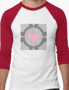 Portal Companion Cube Minimalistic Men's Baseball ¾ T-Shirt