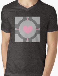 Portal Companion Cube Minimalistic Mens V-Neck T-Shirt