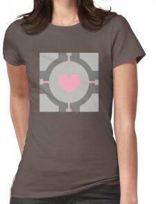 Portal Companion Cube Minimalistic Womens Fitted T-Shirt