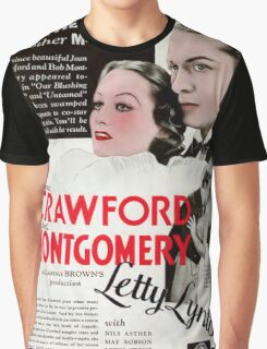 Joan Crawford in Letty Lynton 1932 Graphic T-Shirt