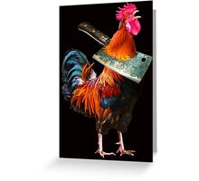 Mr Red Rufus No-Crow Greeting Card