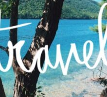Travel tree beach Sticker