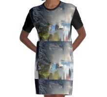 Millennium Stroll Graphic T-Shirt Dress