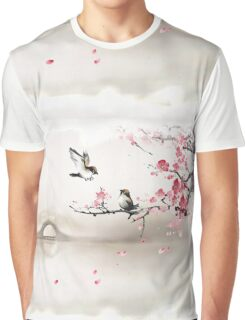 Asian Art Scene Graphic T-Shirt