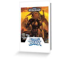Sega Altered Beast Transparent  Greeting Card