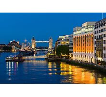 The Thames from London Bridge Photographic Print