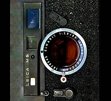 Army look Vintage classic retro rustic leica M5 camera by Johnny Sunardi