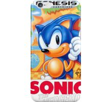 Sega Genesis Sonic The Hedgehog Video Game Cover  iPhone Case/Skin