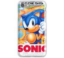 Sega Genesis Sonic The Hedgehog Video Game Cover  iPhone Case/Skin