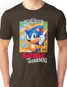 Sega Genesis Sonic The Hedgehog Video Game Cover  Unisex T-Shirt