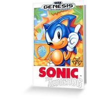 Sega Genesis Sonic The Hedgehog Video Game Cover  Greeting Card