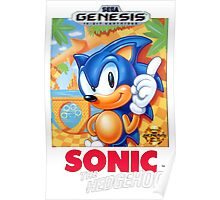 Sega Genesis Sonic The Hedgehog Video Game Cover  Poster