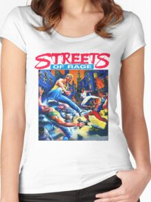 Streets of Rage cover art  Women's Fitted Scoop T-Shirt