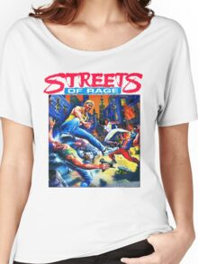 Streets of Rage cover art  Women's Relaxed Fit T-Shirt