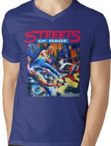 Streets of Rage cover art  Mens V-Neck T-Shirt